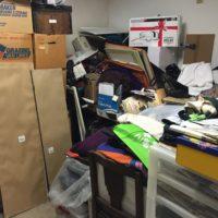 Our messy garage, Photo Jerome Freedman